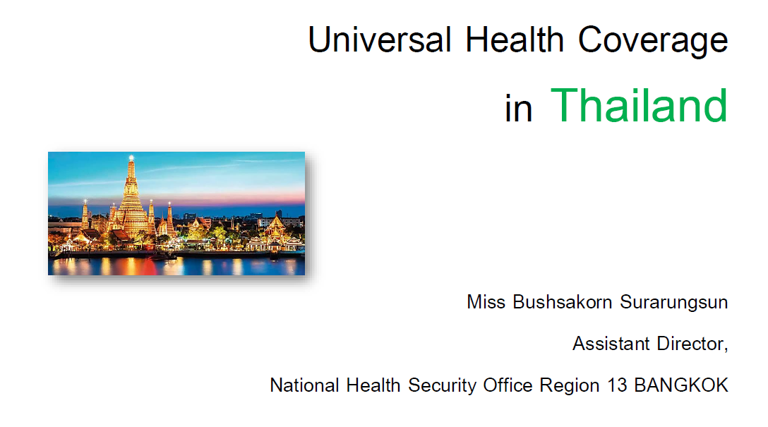 Universal Health Coverage in Thailand